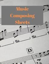 Music Composing Sheets: A4 Music Sheets 120 Pages for composition
