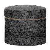 Bloomingville Noir - Voorraadpot met deksel 11.5 cm - Stoneware - Zwart/Grijs