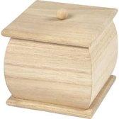 Mini doos met deksel afm 7 5x7 5x8 cm Keizerin boom 1stuk