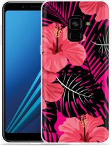 Samsung Galaxy A8 2018 Hoesje Tropical Flowers