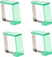 Tafelkleedklemmen 4 Stuks Groen – 5x4x2cm | Tafelkleedgewichten | Klemmen voor het Tafellaken