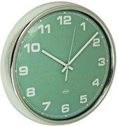 Cabanaz Retro Wandklok – Diameter 30 cm – AA Batterijen – Vintage Green