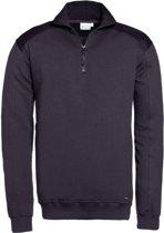 Santino zip-sweater Tokyo - graphite / zwart - maat M