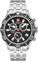 Swiss Military Hanowa 06-5305.04.007 horloge heren - zilver - edelstaal