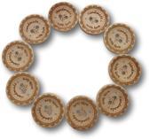 10 stuks - 25mm - Handmade with love - Houten knopen – Knoop - Knopen