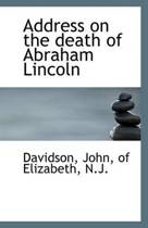 Address on the Death of Abraham Lincoln