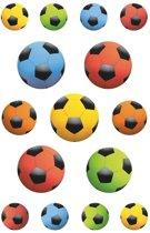 135x Gekleurde voetballen stickers - kinderstickers - stickervellen - knutselspullen