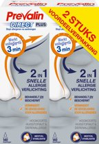 Prevalin Direct Plus Neusspray Duopack - Bij hooikoorts - 2x20ml