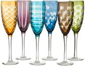 Pols Potten Champagne Glas Cuttings Set/6