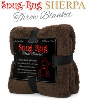 Gift House International Snug-Rug Sherpa - Deken - Chocolate