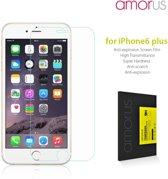 AMORUS 9H Screenprotector Tempered Anti-explosie voor iPhone 6 Plus