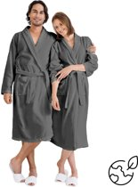 Nightlife Fresh Unisex Sauna badjas - Grijs - S/M