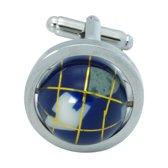 Wereldbol Manchetknopen globe bewegend