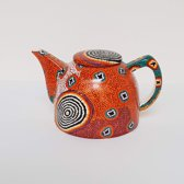Design theepot - Ruth Napaljarri Stewart - Aboriginal collectie