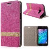 Samsung Galaxy J1 Hoesje Roze (binnenkant rubber)