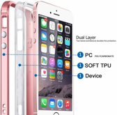 iPhone 6 / 6S Transparant Back Case Cover TPU Hoesje Met Bumper Rose Goud