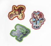 Marvel Comics - 3 Muurstickers Foam - Superhelden - 30x30 cm