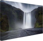 Waterval Canvas 80x60 cm - Foto print op Canvas schilderij (Wanddecoratie woonkamer / slaapkamer)