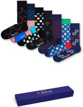 Happy Socks 7 Days Giftbox - Navy - Maat 41-46