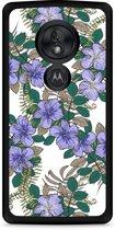 Motorola Moto G7 Play Hardcase hoesje Purple Flowers