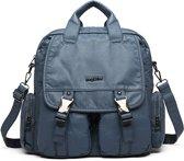 Bagwise 3in1 Rugtas, Schoudertas en Handtas 1530 Jeans Blauw