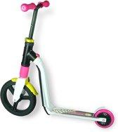 Scoot & Ride Highwayfreak step scooter loopfiets balancebike wit/rose