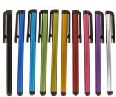 IKOOP & PROCLAIMS © 2 stylus pennen KL. Donker paars Universeel HTC One/iPhone 5S/iPhone 4S/Samsung Galaxy/Xperia Z1/iPad 2,3,4 Air Mini / Galaxy Tab Zilver