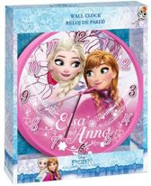 Frozen Elsa and Anna wandklok roze disign