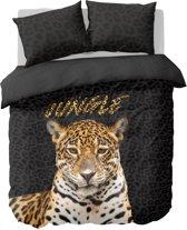 Nightlife Dekbedovertrek Jungle luipaard 140x200/220 - Polykatoen - Grijs