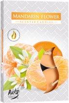 Aura Mandarin Flower Geurwaxinelichtjes 6 stuks