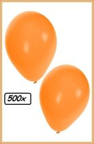 Ballonnen helium 500x oranje