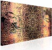 Schilderij - Mandala: Zonnige Poëzie