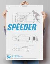 REINDERS STAR WARS THE FORCE AWAKENS Rey's speeder - Poster - 61x91,5cm