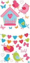 Lief! - Muurstickers - Vogeltjes - Roze - 30 x 62cm