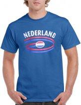 Nederland t-shirt blauw S
