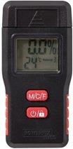POWERFIX® Vochtmeter - Inclusief batterijen - Vocht meten - Temperatuurweergave - batterij-indicator - Hout - Muren - Bouwmateriaal
