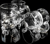 Kunststof shotglaasjes transparant - 2 cl - 200 stuks