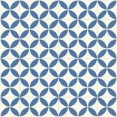 JYG Vloerkleed - Keukenloper Chimay 200x200 - Blauw - Wit