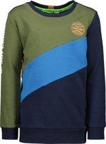 B.Nosy Jongens Sweater - blad groen - Maat 110/116