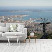 Fotobehang vinyl - Uitzicht over de Franse stad Toulon breedte 360 cm x hoogte 270 cm - Foto print op behang (in 7 formaten beschikbaar)