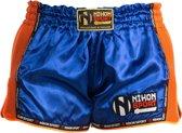 Nihon Kickboks Broek Lage Taille Heren Blauw/oranje Maat M