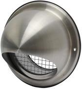 SENCYS inox overdrukrooster met  vogelgaas voor Ø 150 mm bol | rvs