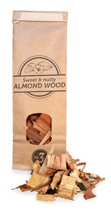 Smokey Olive Wood- Houtsnippers - Amandelhout - 500ml - Chips grote maat ø 2cm-3cm