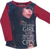 D-RAK-meisjes-shirt/longsleeve-6714-kleur: rood-maat 128