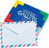 26x Gallery luchtpostenveloppen, 114x162mm, gegomd, doos a 50 stuks