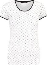 Supermom Shirt Logo Stripe - Optical White - Maat S
