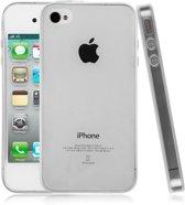 iPhone 4 - 4S Ultra thin 0.3mm Gel TPU transparant Back Case hoesje