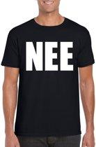 NEE tekst t-shirt zwart heren 2XL