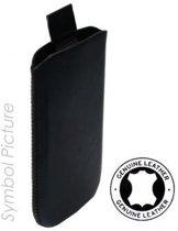 Lederen Hoesje Samsung Galaxy Pocket Neo S5310 Black Met Strap