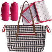 Verzorgingstas Pink Lining Notting Hill Tote Diamonds and Hearts